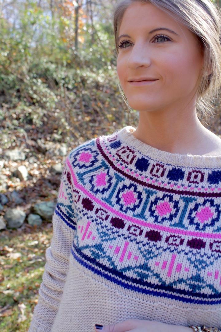 Fair Isle Crop Sweater