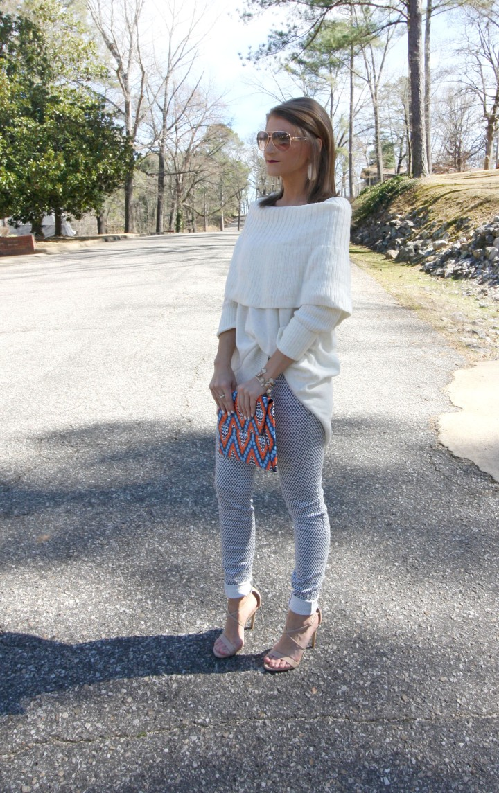 Sweater & Printed Jean