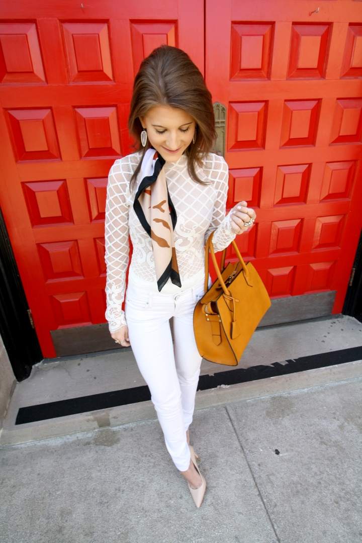 Lace Bodysuit & Jean