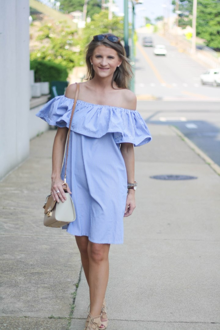 Brunch in a Cold Shoulder Dress