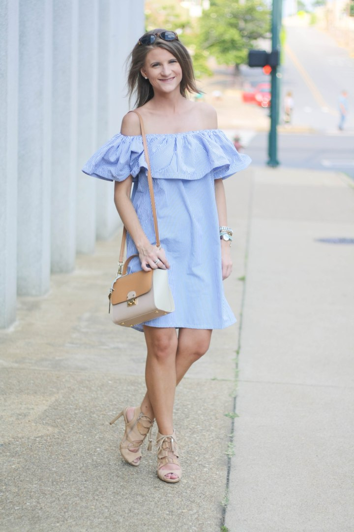 Brunch in a Cold Shoulder Dress