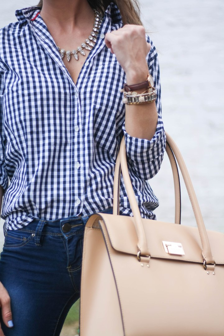 Gingham Button Down Shirt
