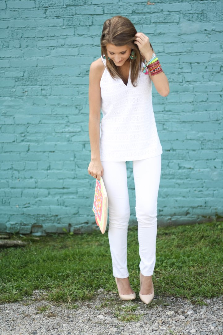 White & Neon Outfit