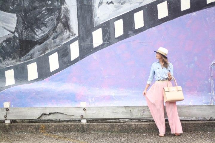 Pink Pant & Chambray Shirt