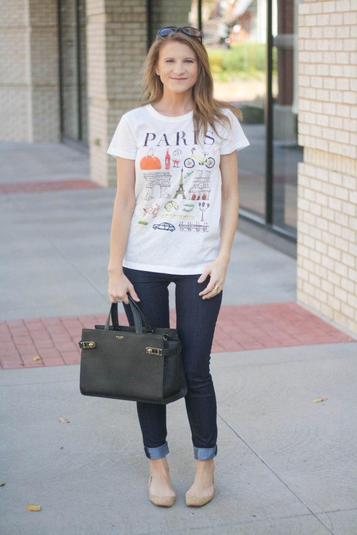 Printed Tee & Skinny Jeans