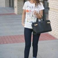 Printed Tee & Custom Skinny Jeans