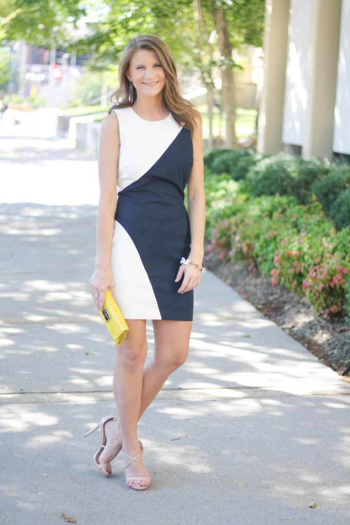 How to Wear Colorblock - Elizabeth and James Dress