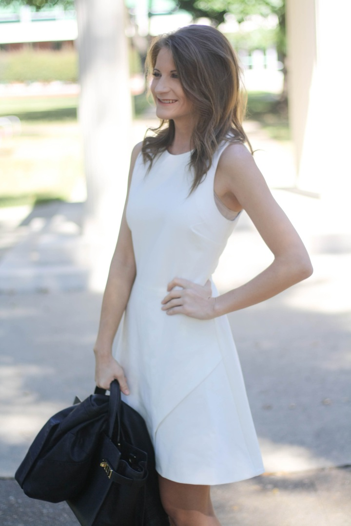 Elizabeth and James White Dress - Black and White Outfit