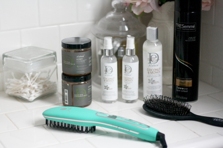 Hair Routine Essentials feat. Irresistible Me Hair Straightneing Brush