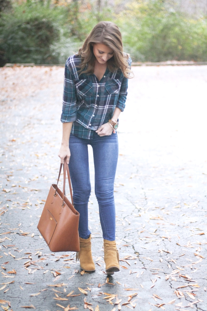 Plaid Shirts & Vests Outfit