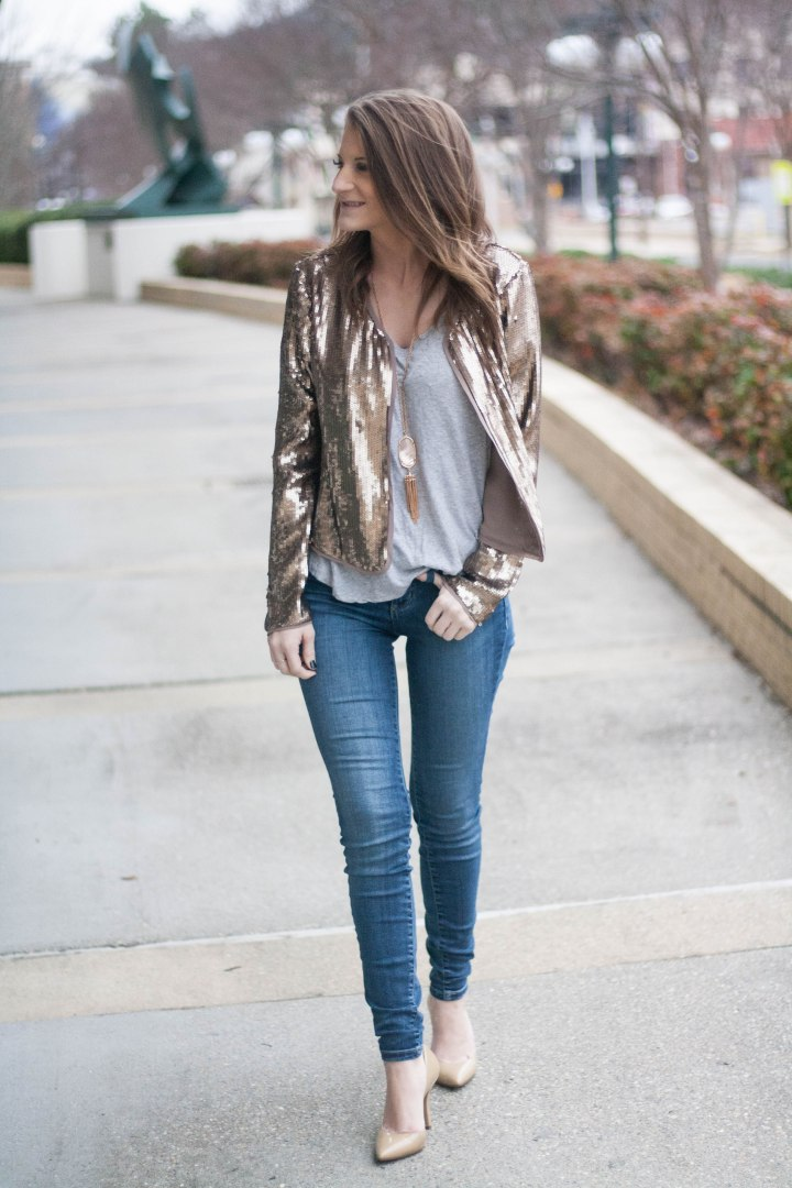 How to Re-purpose Holiday Sequins: Sequin Blazer