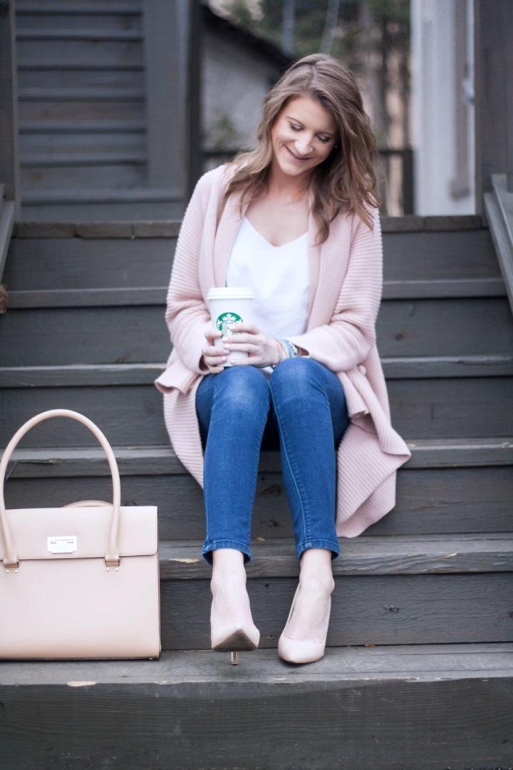 Chunk Pink Cardigan