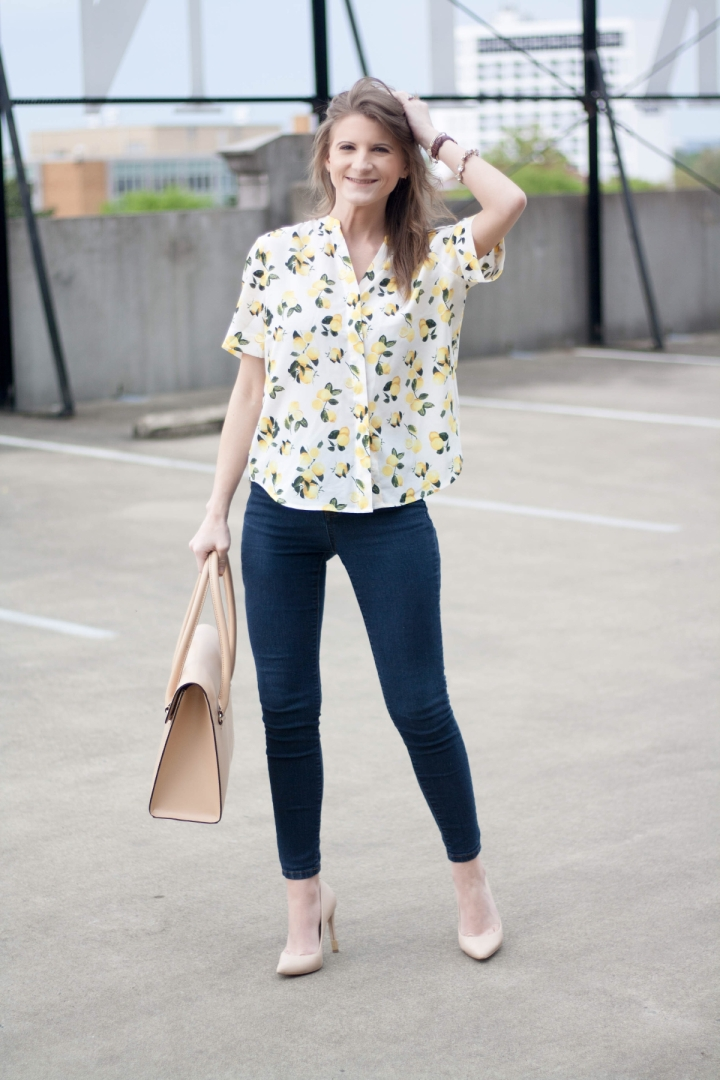 Lemon Print Blouse