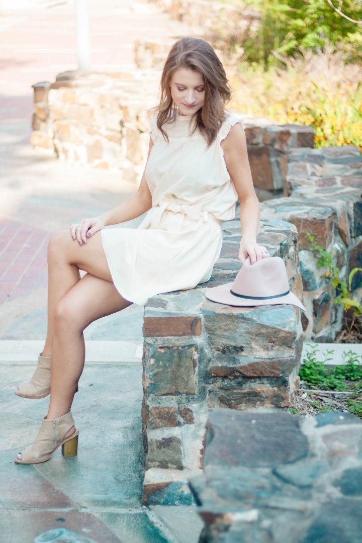Balenciaga Cream Silk Dress