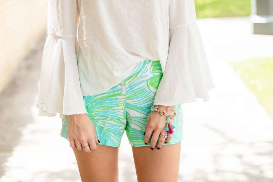 Lilly Pulitzer Short & Off The Shoulder Top