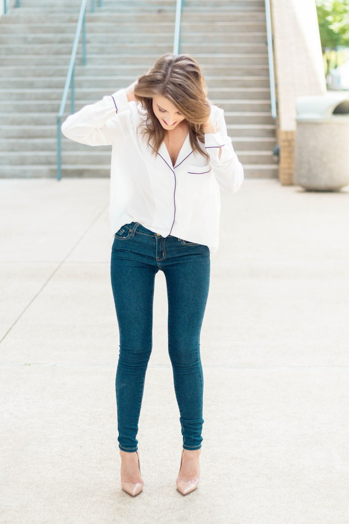 Pajama Inspired Blouse
