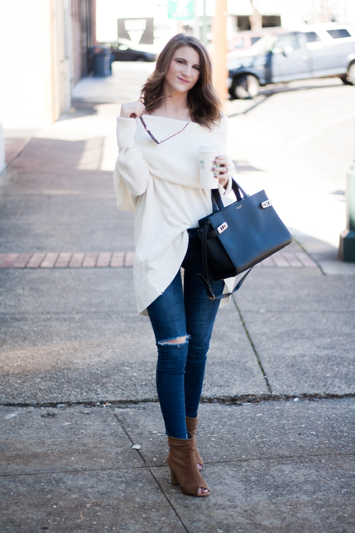 Oversized Off the Shoulder Sweater