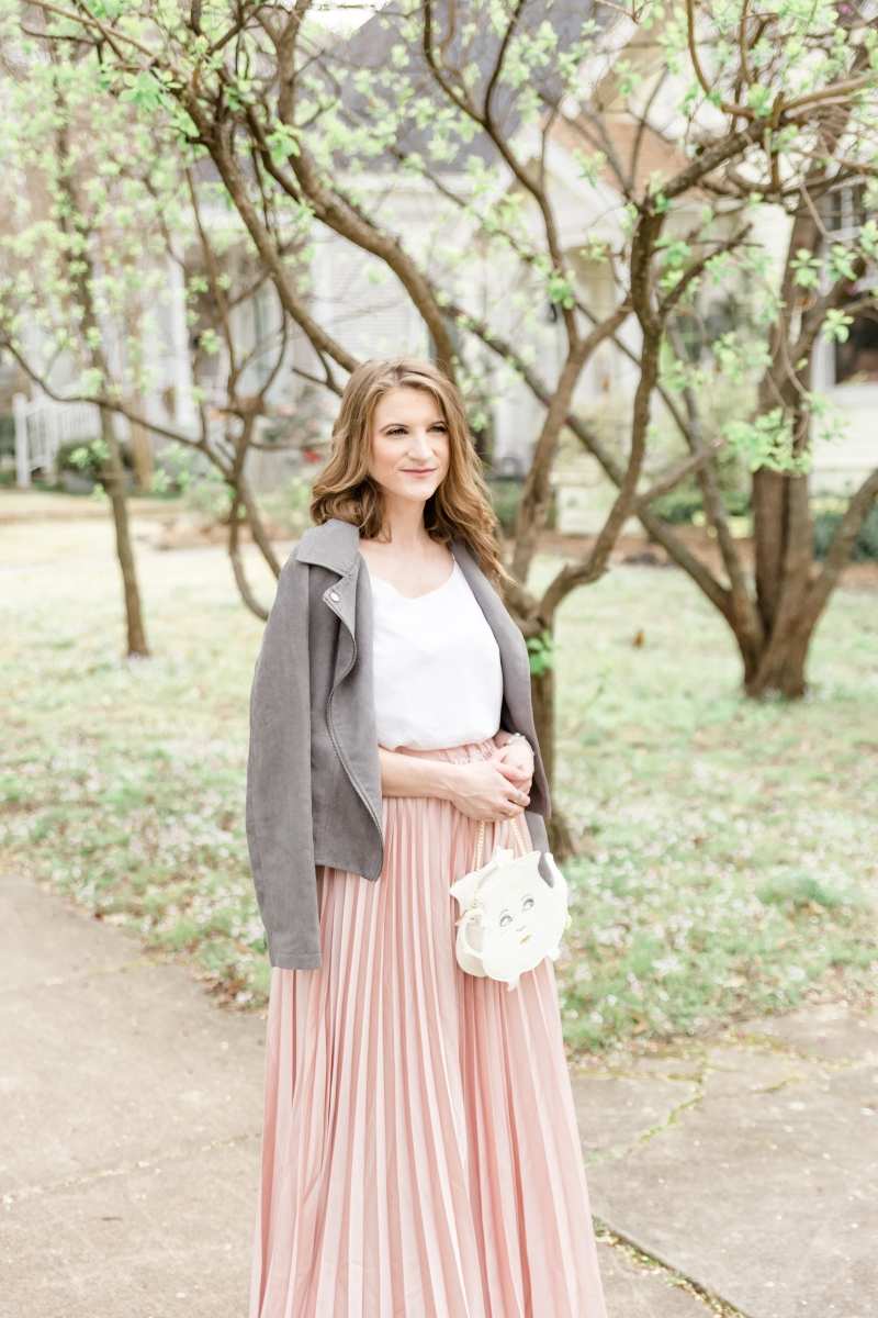 Pink Maxi Skirt ft. Madeline Shane Photography