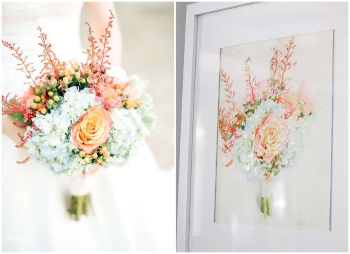 Custom Bridal Bouquet Painting by The Classy Artist