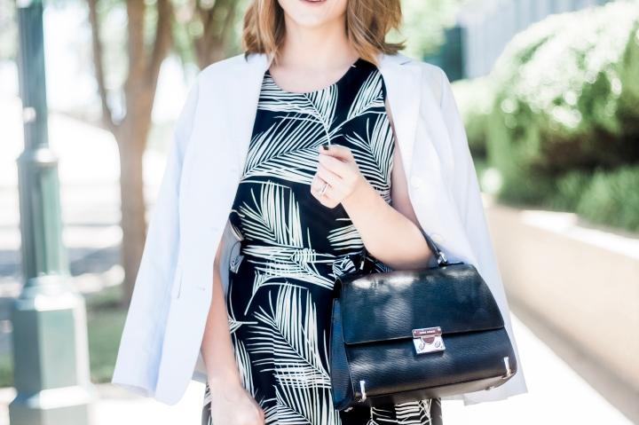 Karen Kane Palm Print Dress