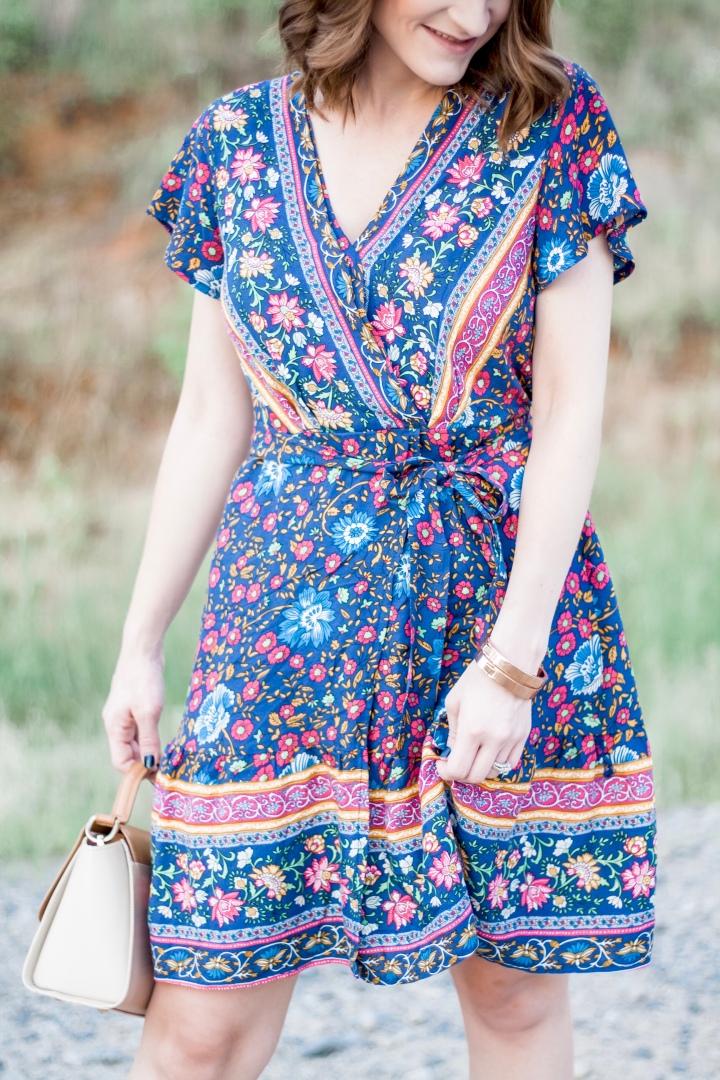 Blue Printed Sundress