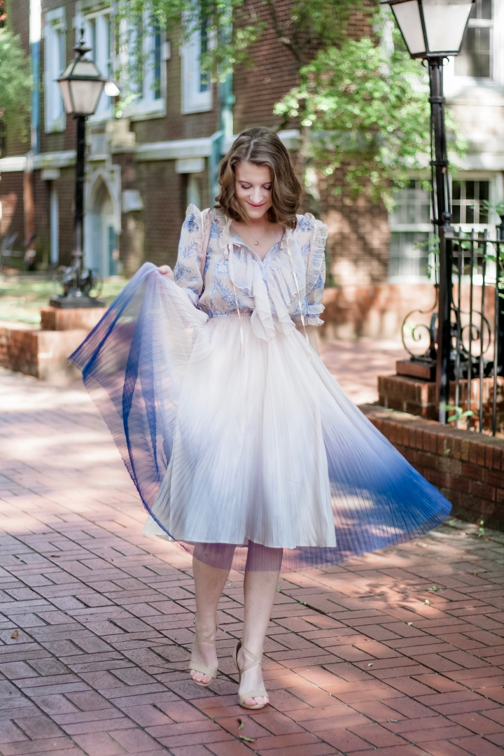 Chicwish Ombre Tulle Dress