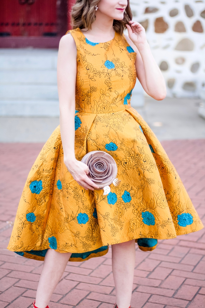 Chicwish Golden Roses Dress